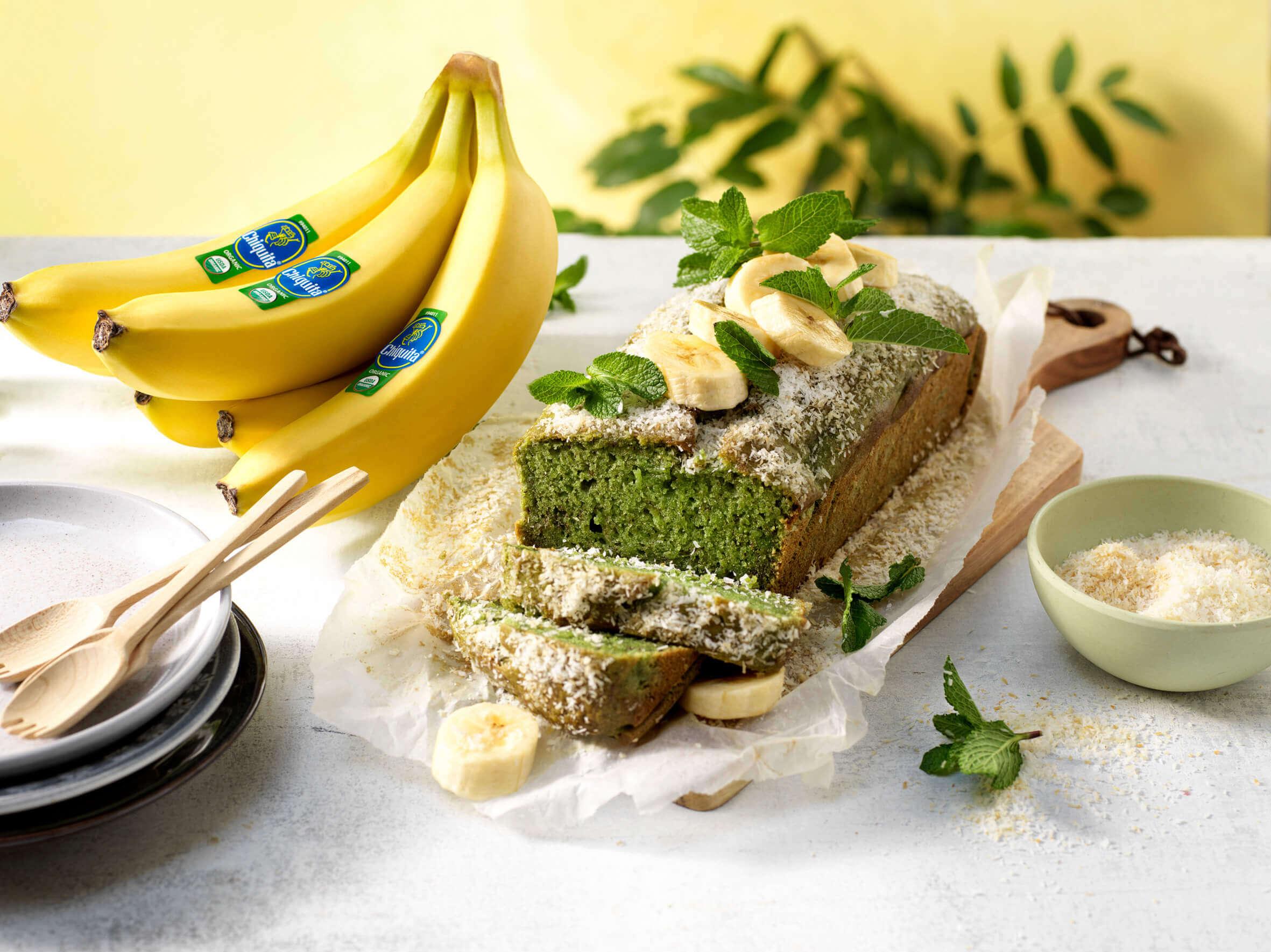 Vegan pandan organic Chiquita banana bread
