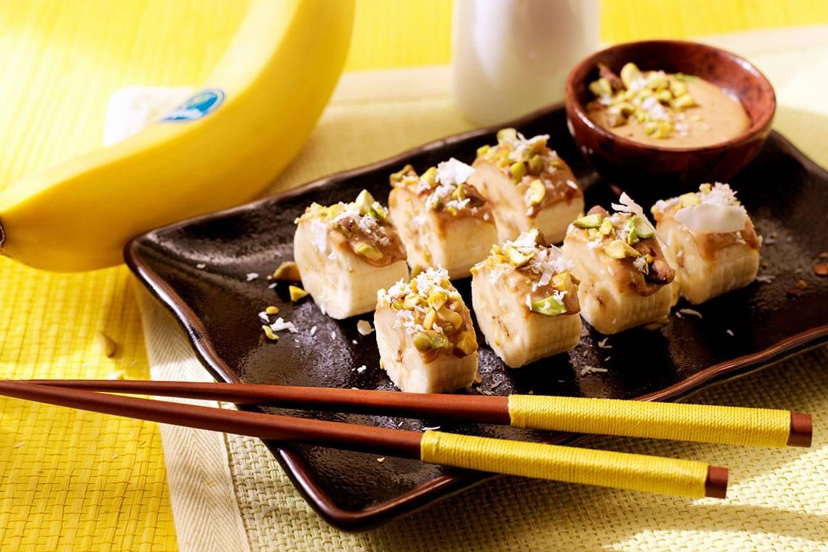 Banana Sushi with Coconut Recipe