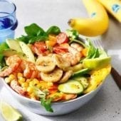 Chiquita Banana shrimp salad