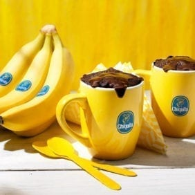 Chiquita banana mug brownie