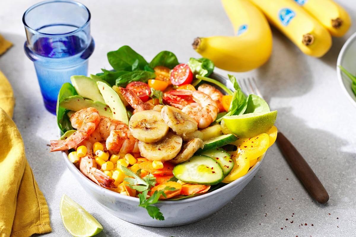 Chiquita Banana shrimp salad