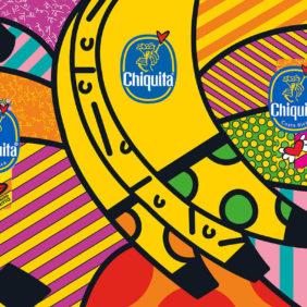 Chiquita Blue Sticker by Romero Britto