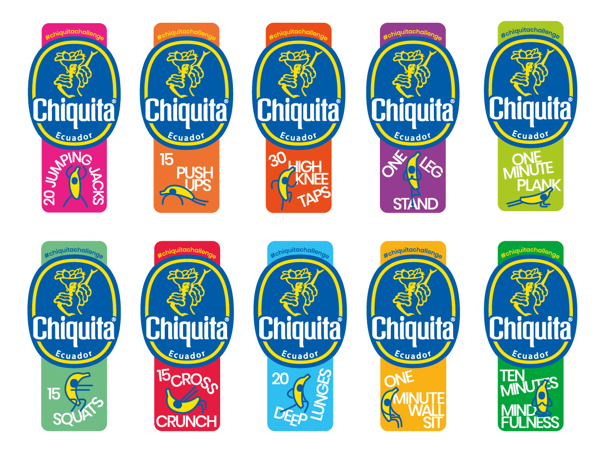 Chiquita Launches Fitness Stickers to Boost Health and Wellness - 1
