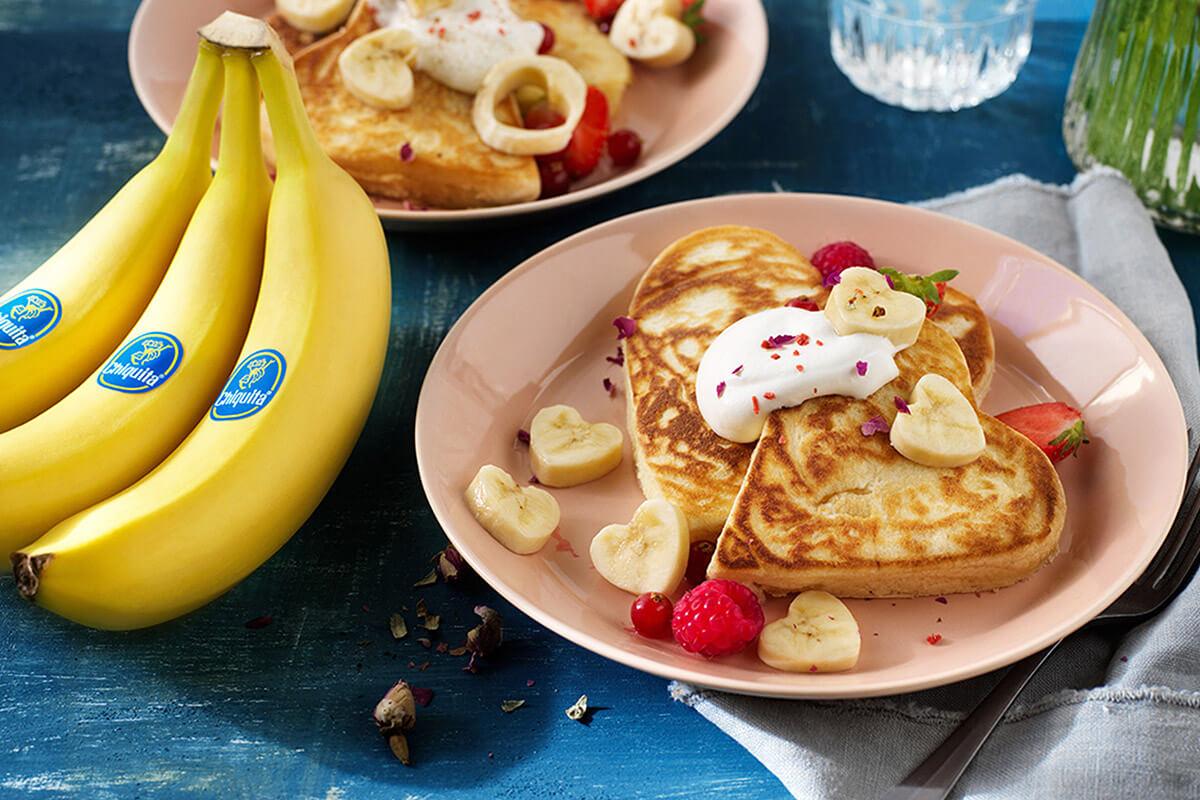 Chiquita Valentine's day banana pancakes