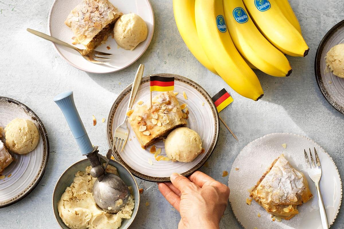 Chiquita banana German strudel with almonds