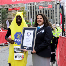 Chiquita goes bananas over record breaking runner