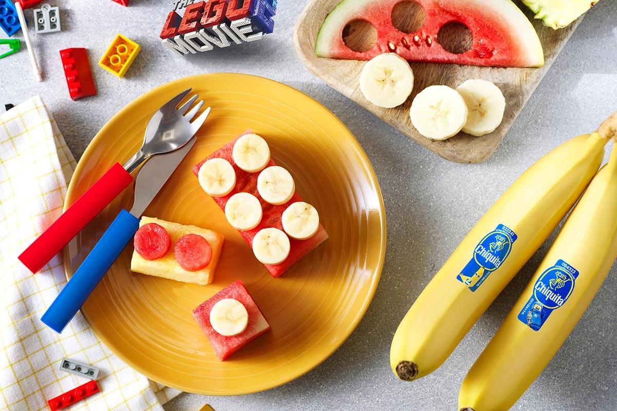 Emmet's Chiquita Banana fruit bricks from Bricksburg