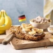German Vollkornbrot with Chiquita banana and coconut