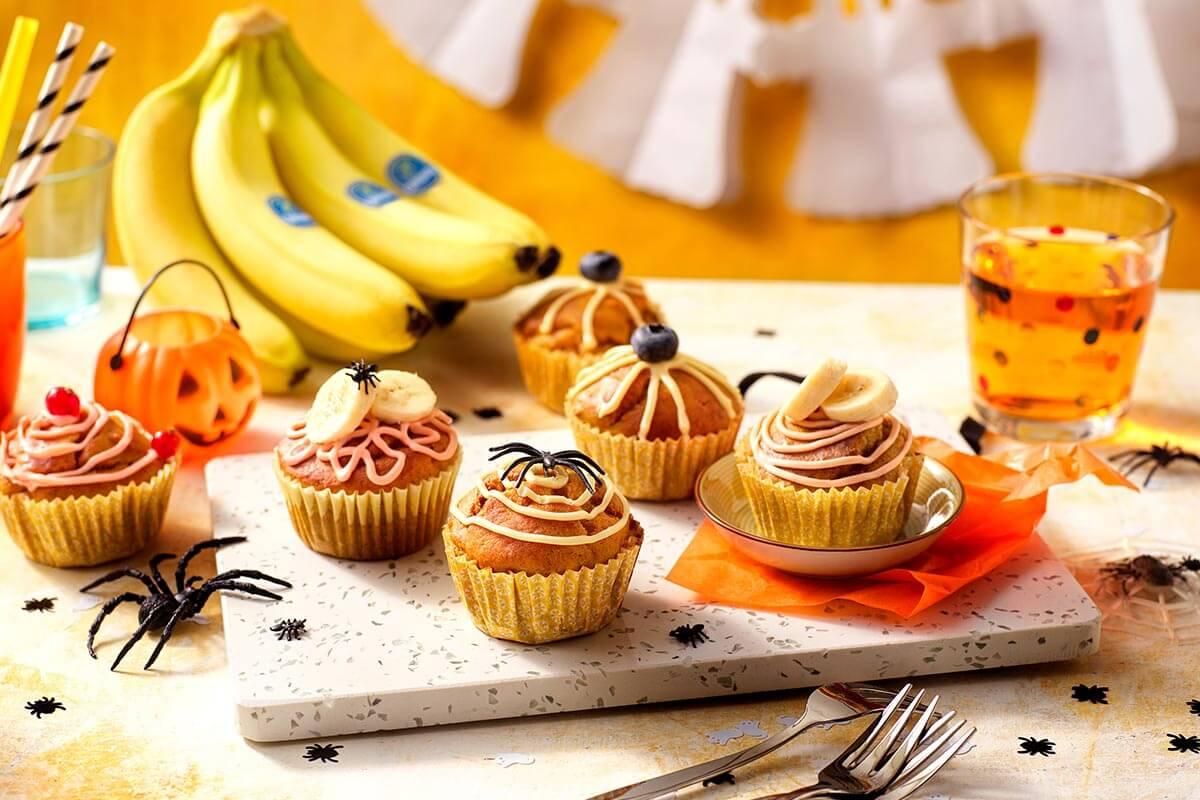 Halloween Pumpkin Muffins with Chiquita Banana