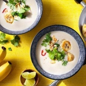 Healthy Thai Curry-Coconut Soup with Chiquita Bananas