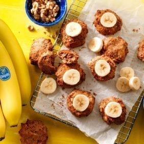Leftover vegan Chiquita banana bread cookies