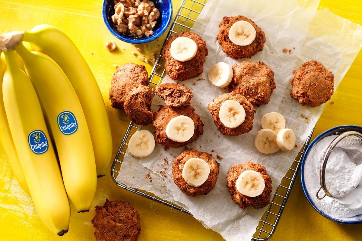 Leftover vegan Chiquita banana bread cookies