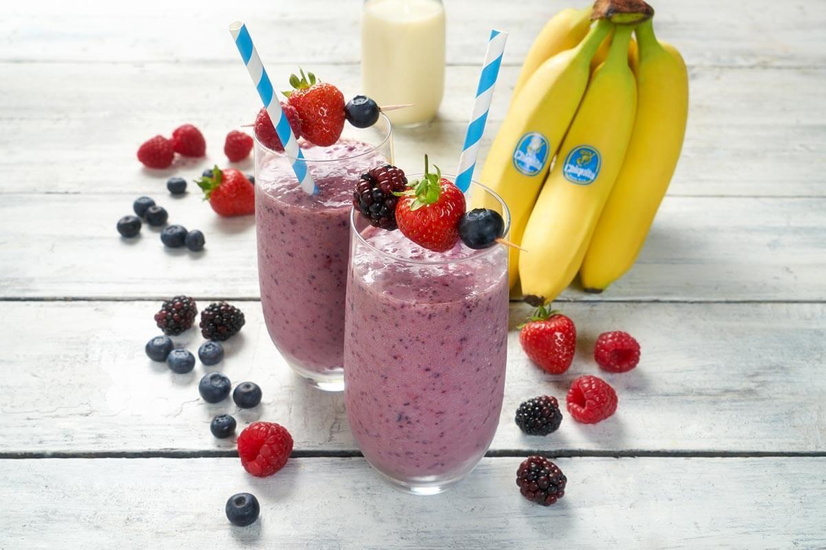 Quick Chiquita Banana Berry Smoothie