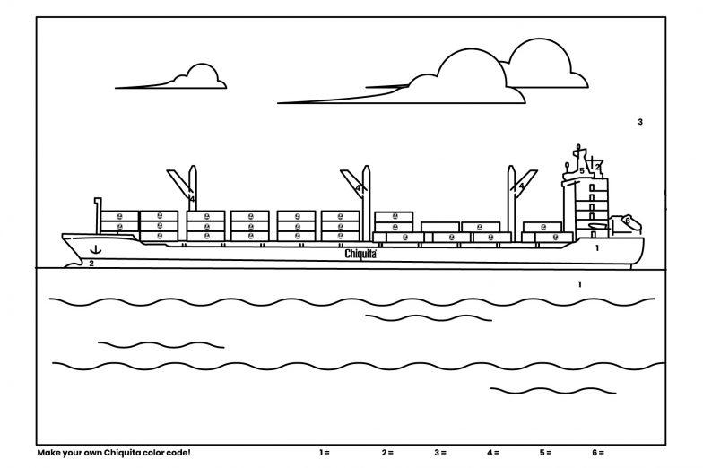 Chiquita Clouring Ship
