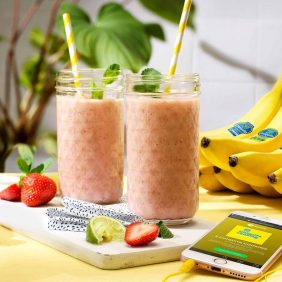 Chiquita banana strawberry smoothie