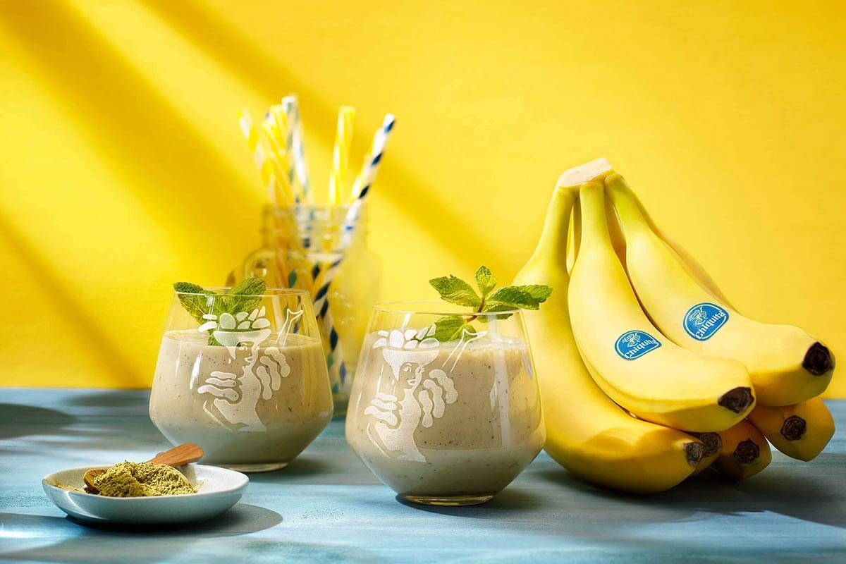 Green tea Chiquita banana smoothie
