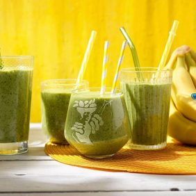 Healthy spinach and Chiquita banana smoothie