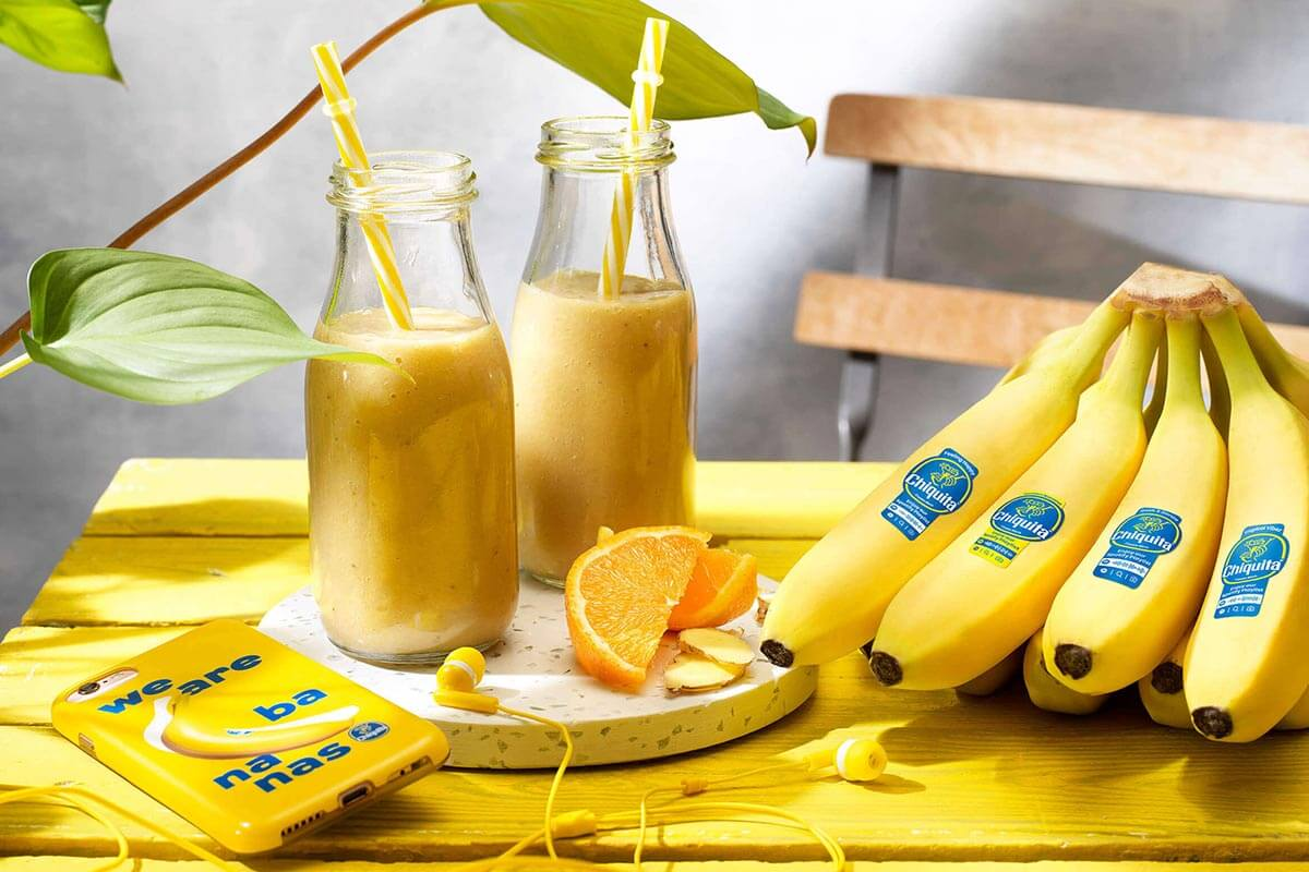 Chiquita banana, orange and ginger smoothie