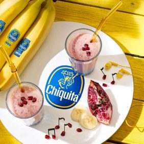 Chiquita banana and pomegranate smoothie
