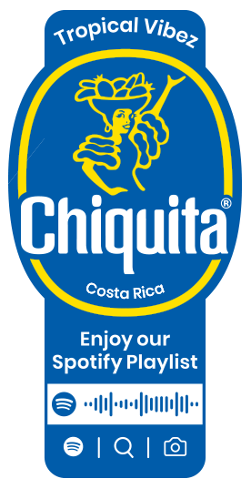 Spotify_Tropical_Vibez_Chiquita_Sticker