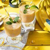 Tropical Chiquita banana smoothie with yogurt