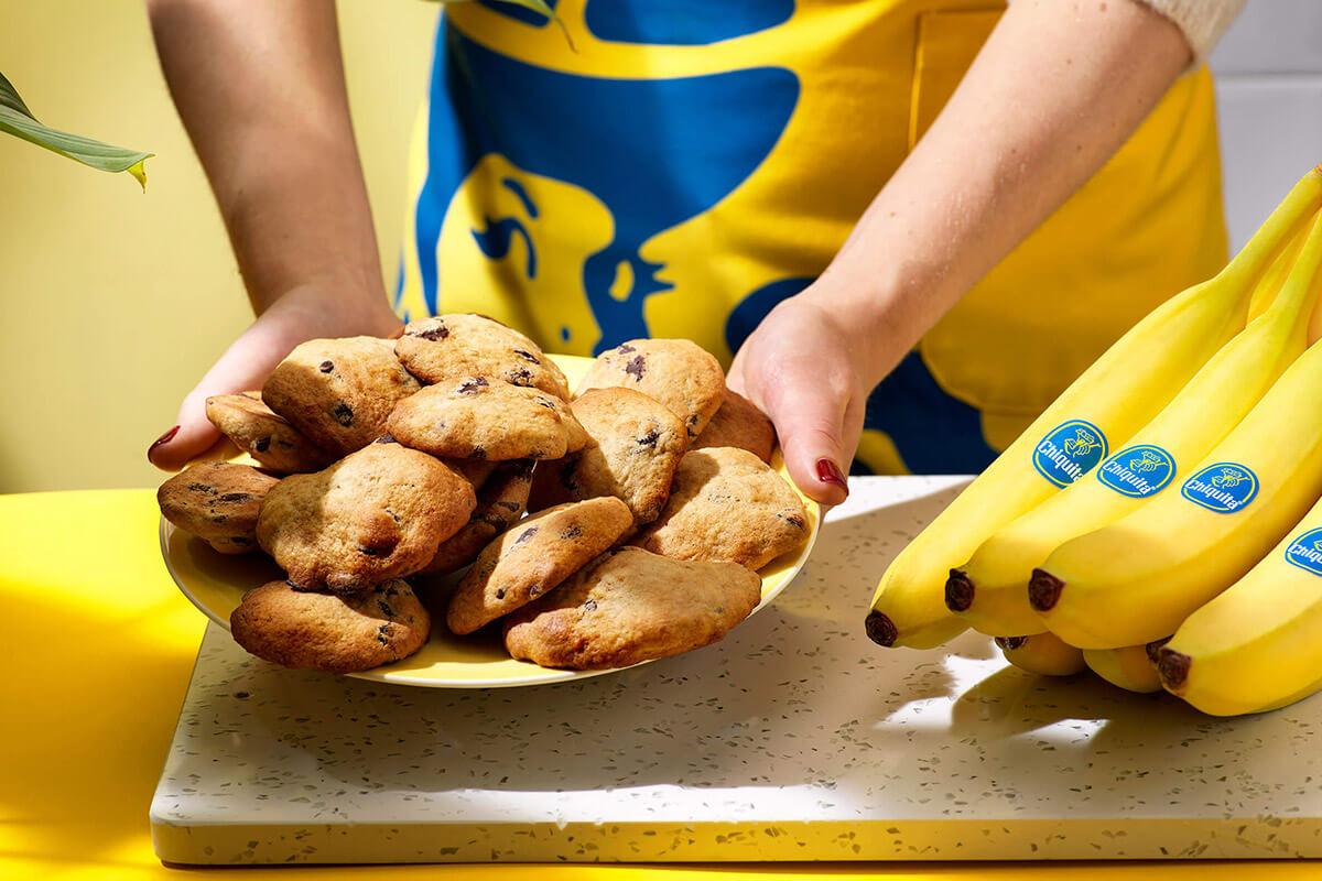 Easy Chiquita banana chocolate chip cookies