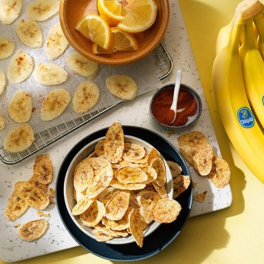 Healthy baked Chiquita banana chips