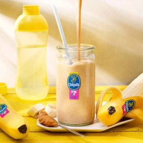 Peanut Butter and Chiquita Banana Warm-Up Shake