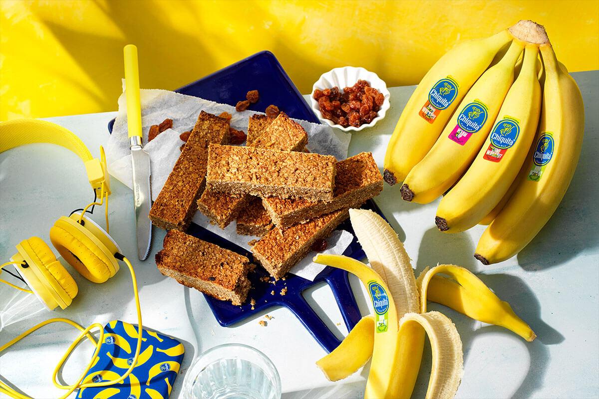 Snap Chiquita banana bread protein bars