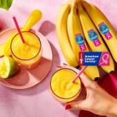 Chiquita banana pear smoothie with turmeric