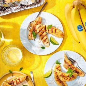 Cinnamon grilled Chiquita bananas BBQ