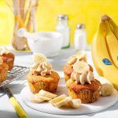 Peanut Butter Chiquita Banana Cupcakes