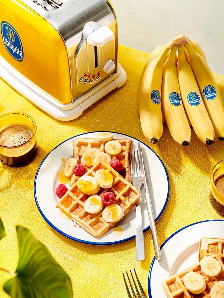 Vegan Chiquita Banana Bread Waffles