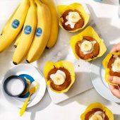 Vegan Chiquita Banana Cream Cupcakes
