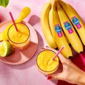 Chiquita banana pear smoothie with turmeric