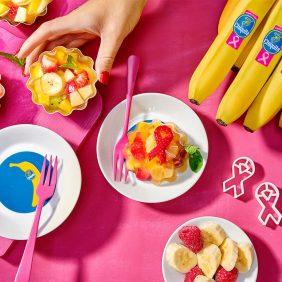 Healthy Jello fruit salad with Chiquita banana