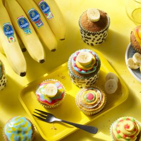 Artsy Chiquita Banana Cupcakes