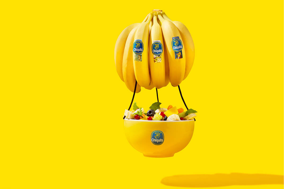 Classic Chiquita Floating Banana Fruit bowl