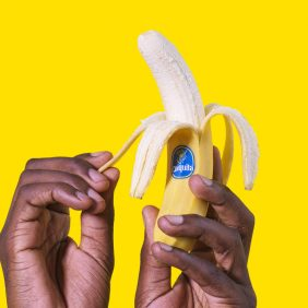 How to open a banana? They're fun to peel!