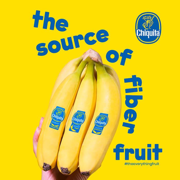 The source of fiber fruit Chiquita