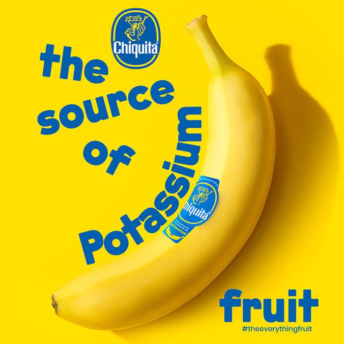 The source of potassium fruit Chiquita