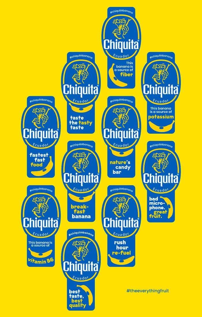 Chiquita Banana The Everything Fruit Stickers