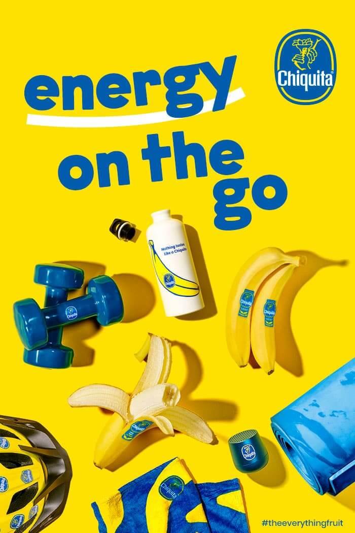 Energy on the go Chiquita banana