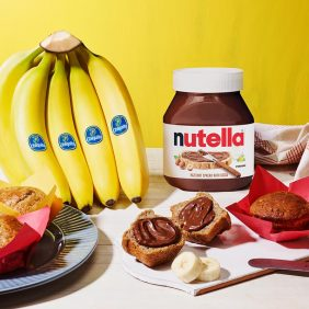 Chiquita® Banana Buttermilk Breakfast Muffins with Nutella® hazelnut spread