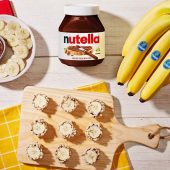 Chiquita® Banana Sushi Bites with Nutella® hazelnut spread