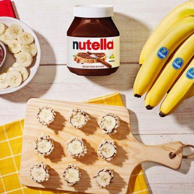 Chiquita® Banana Sushi Bites with Nutella® hazelnut spread