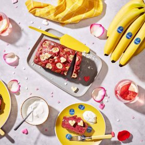 Chiquita banana bread velvet for Valentine's Day