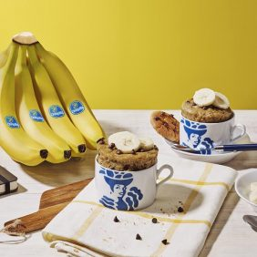Chiquita Banana and chocolate chip cookie mug