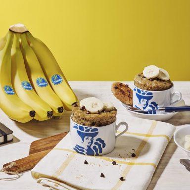 Chiquita Banana and chocolate chip cookie mug