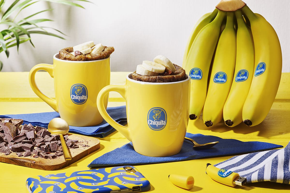 Chiquita Banana bread in a mug